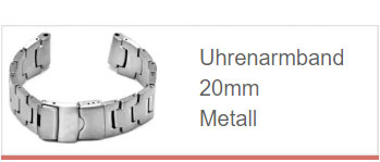 Uhrenarmband in 20mm aus Metall