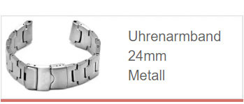 Uhrenarmband in 24mm aus Metall