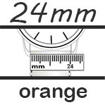 Uhrenarmband 24mm orange