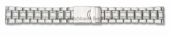 Stahl Metall Uhrenarmband Massiv-Optik  - 18, 20mm
