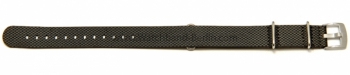 Uhrenarmband 18mm grau Leder / Synthetik Nato
