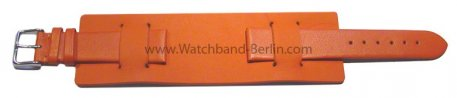Uhrenarmband - Leder - Business - mit Unterlage - orange