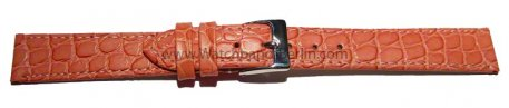 Uhrenarmband Leder altrosa 12-22 mm Safari
