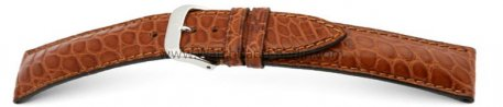 Uhrenarmband - echt Alligator - art manuel - cognac