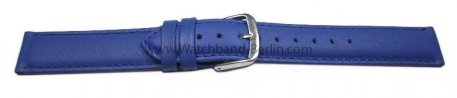 Uhrenarmband echt Leder - Smooth - blau - 8-20 mm