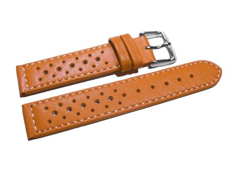 orange 18mm  20mm 22mm 24mm Uhrenarmband Kroko-Look Butterfly-Schließe XXL