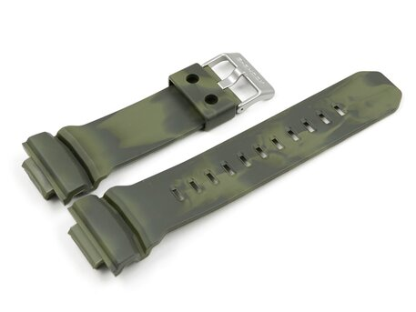 Resin Uhrenarmband Casio grün camouflage f. GA-100MM-3