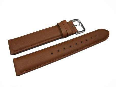 Uhrenarmband echt Leder - Smooth - caramel - 8-20 mm