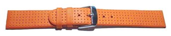 Uhrenarmband Glatt mit Lochung - orange