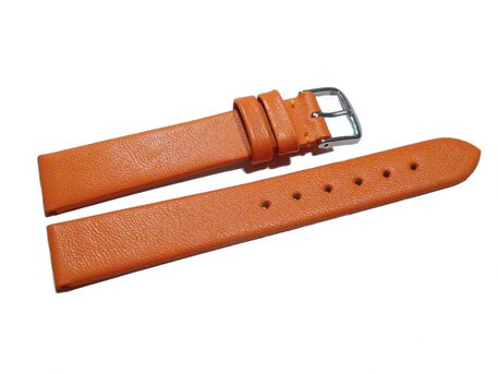 Uhrenarmband Leder Business orange 8-22 mm