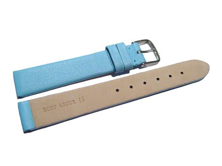 Uhrenarmband Leder Business hellblau 8-22 mm