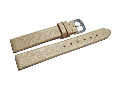 Uhrenarmband Leder Business gold 8-22 mm